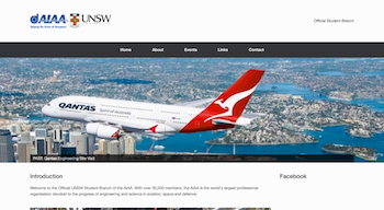 AIAA UNSW Student Branch Website